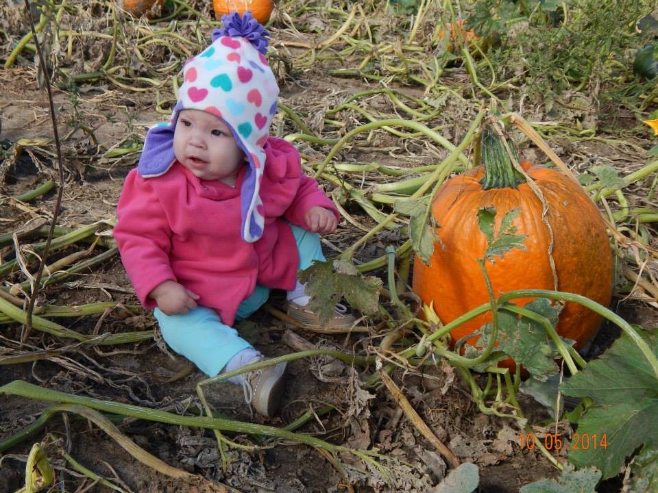 Grandbaby at the pumpkin patch