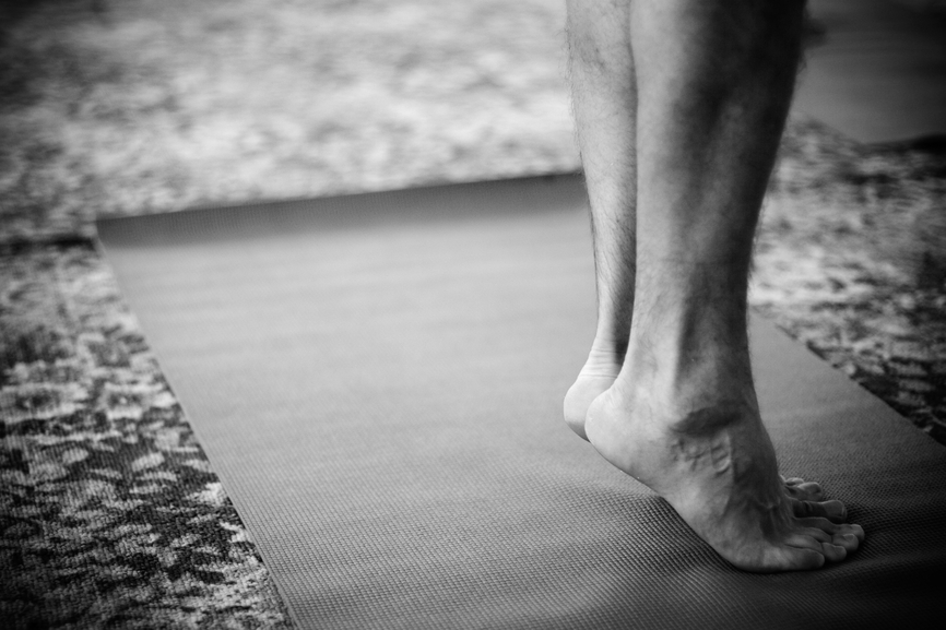 Feet on yoga mat is money in the bank
